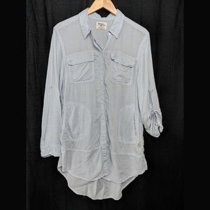 Anthropologie Holding Horses Chambray Shirt Small